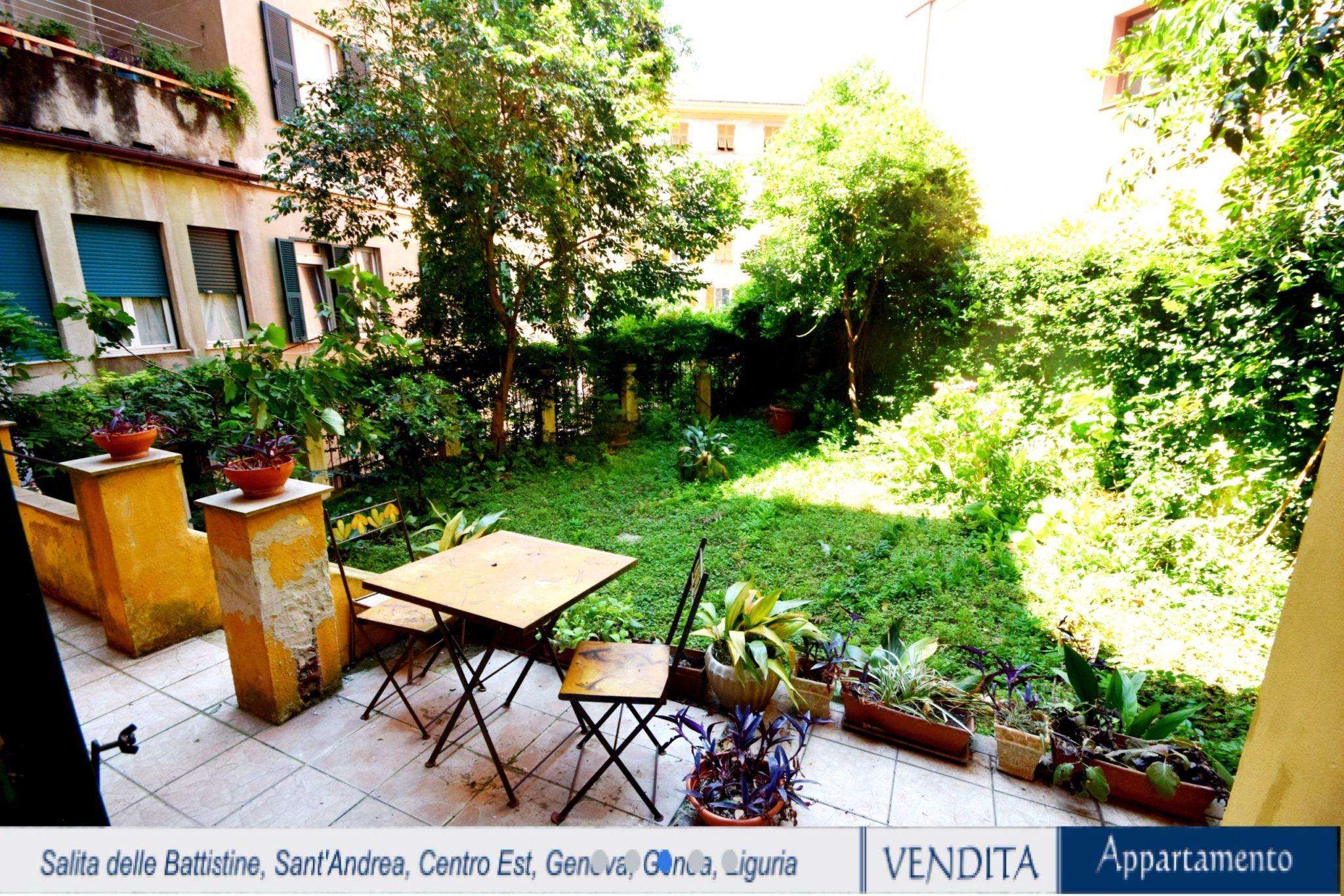 CENTRO (SALITA DELLE BATTISTINE) vendiamo 110 mq ristrutturati con ampio giardino